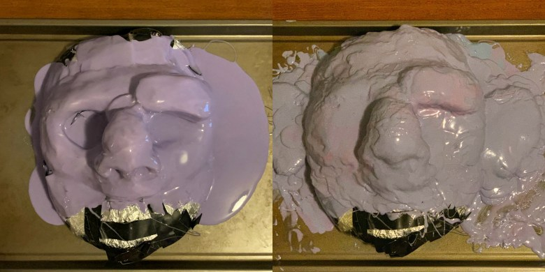 Making the mold of Brendan McWhirk's Quasimodo mask.