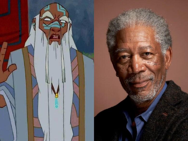 "Morgan Freeman as King Kashekim Nedakh from ""Atlantis: The Lost Empire"""
