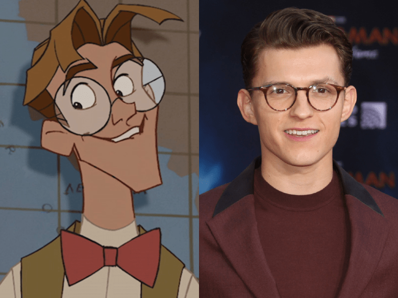 """Tom Holland as Milo Thatch from """"Atlantis: The Lost Empire"""""""