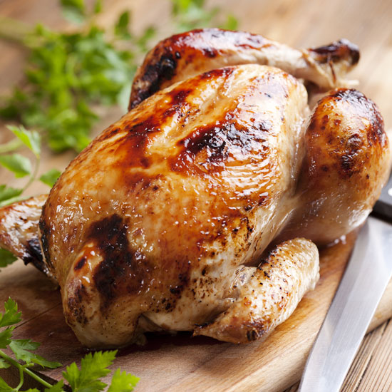Whole Roasted Chicken in the Slow Cooker - www.BackToMyRoots.ca