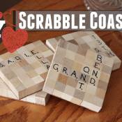 To-DIY-For Scrabble Coasters (Valentine's Gift)