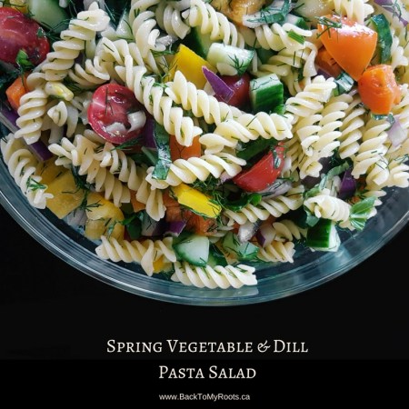Spring Vegetable & Dill Pasta Salad (gluten free)