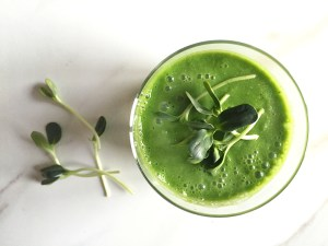 Sunflower Microgreen Smoothie