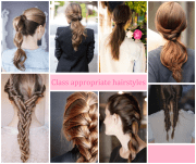 cute hairstyles strict schools