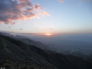 Sunrise over Tehran