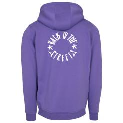 Heavy Logo Hood - violet