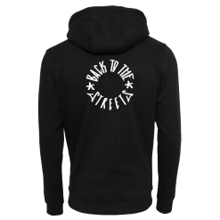 Classic Logo Backprint Hood - black
