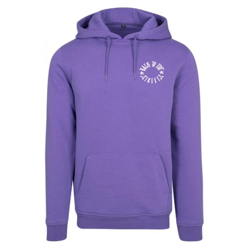 Front Heavy Logo Hood - violet