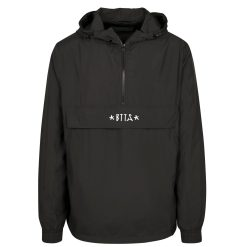 Logo Pull Over Jacket - black