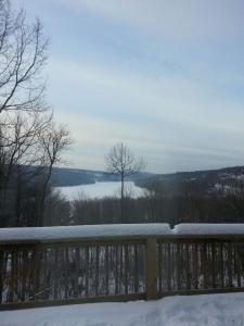View from our cabin in Deep Creek Lake