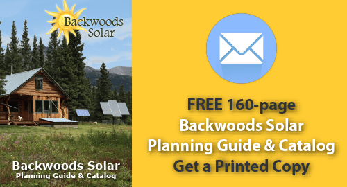 Request a hard copy of our off-grid solar catalog