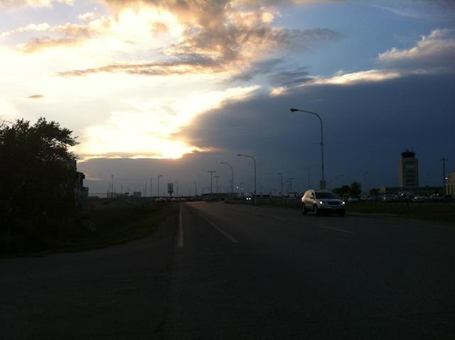 My final Winnipeg sunset.