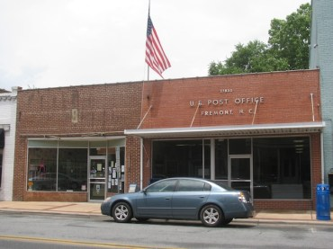 U.S. post office in Fremont, North Carolina.