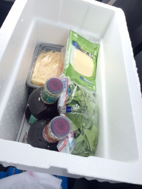 Here's the $7-cooler that helped a ton in cutting down costs by keeping groceries fresh.