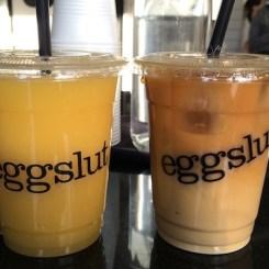 Orange juice & iced coffee