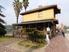 Palms Depot - where visitors pay for admission and where the gift shop is located