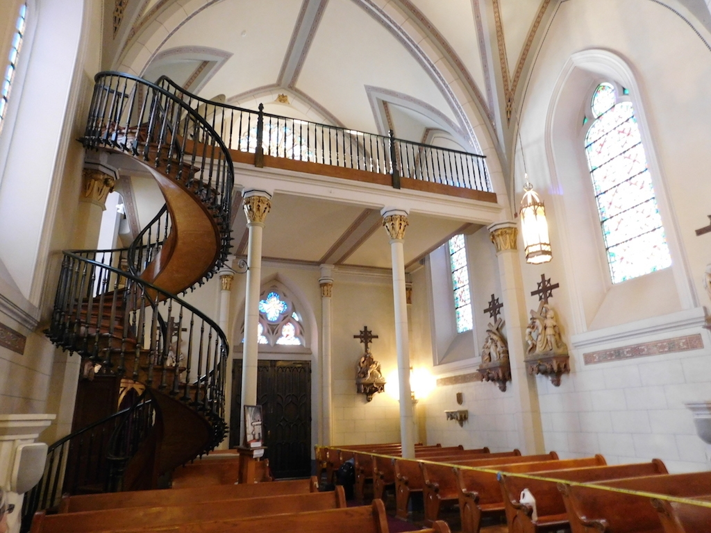 A Miraculous Staircase At Loretto Chapel Backyard   Stairs Of Loretto Chapel