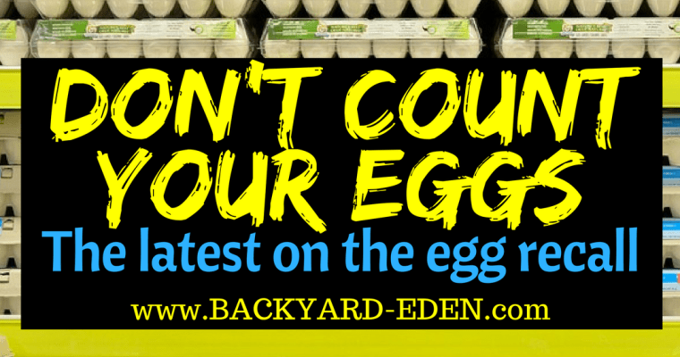 Don't count your eggs – just yet!