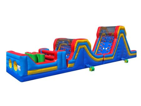 Inflatable obstacle course rental for parties and events.