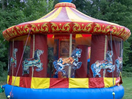 Merry Go Carousel Bounce House