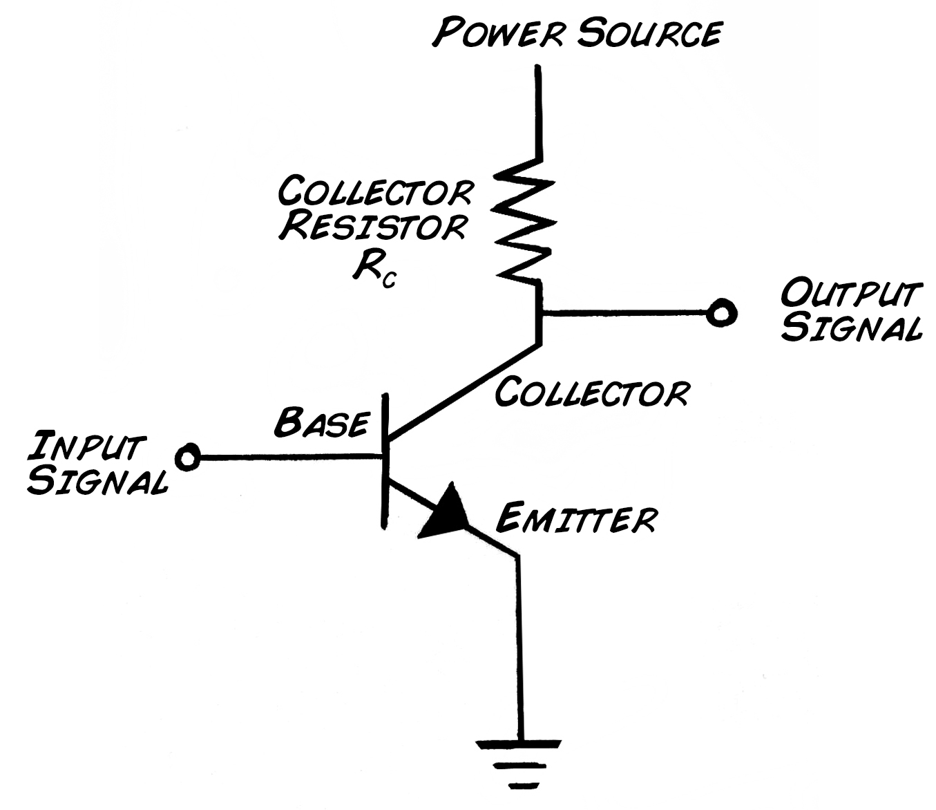 Single Transistor Amplifier Circuit