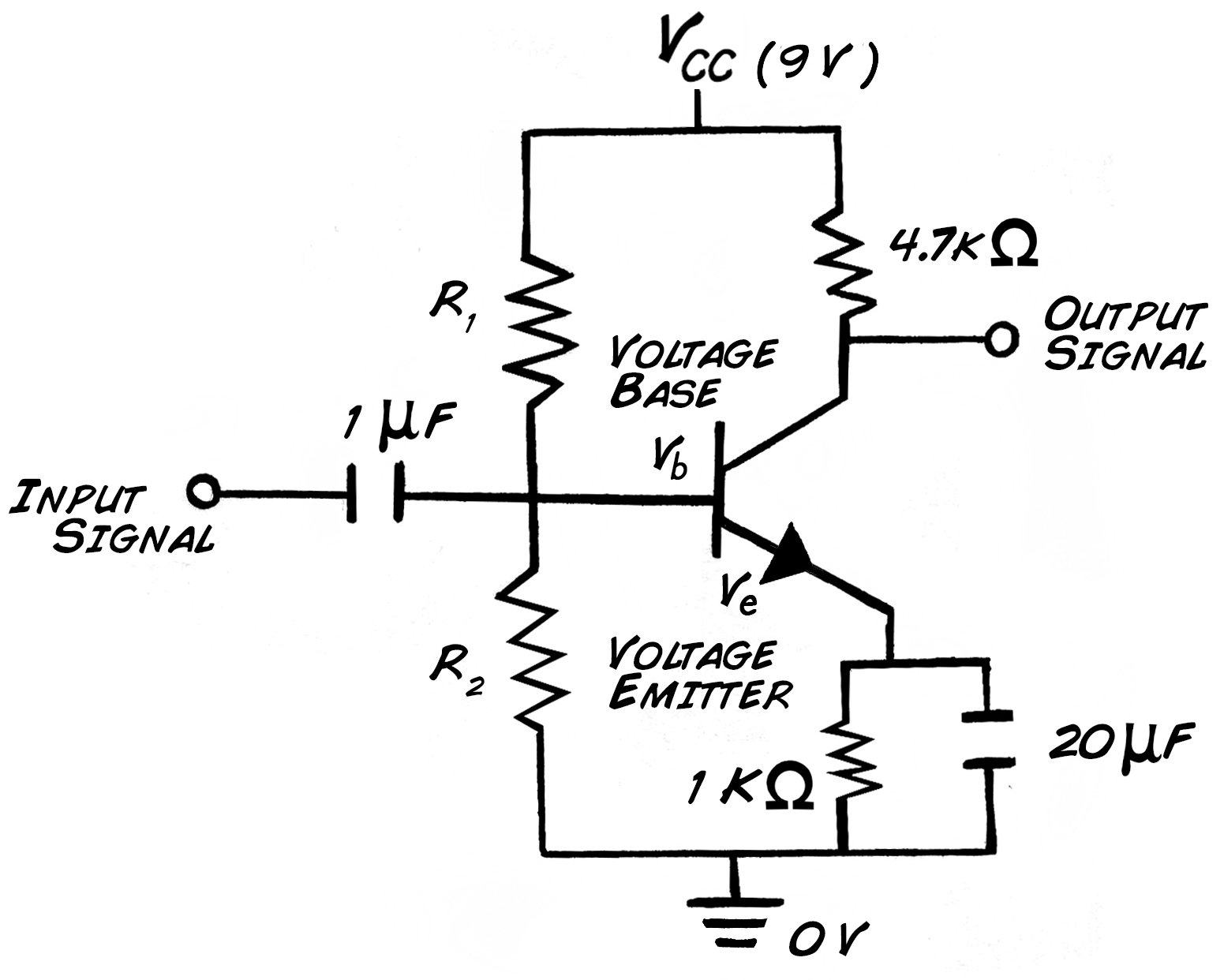 resistor circuit diagram molex connector wiring experiment transistor design setting the bias voltages
