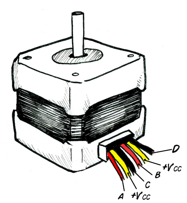 stepper motor pin connection