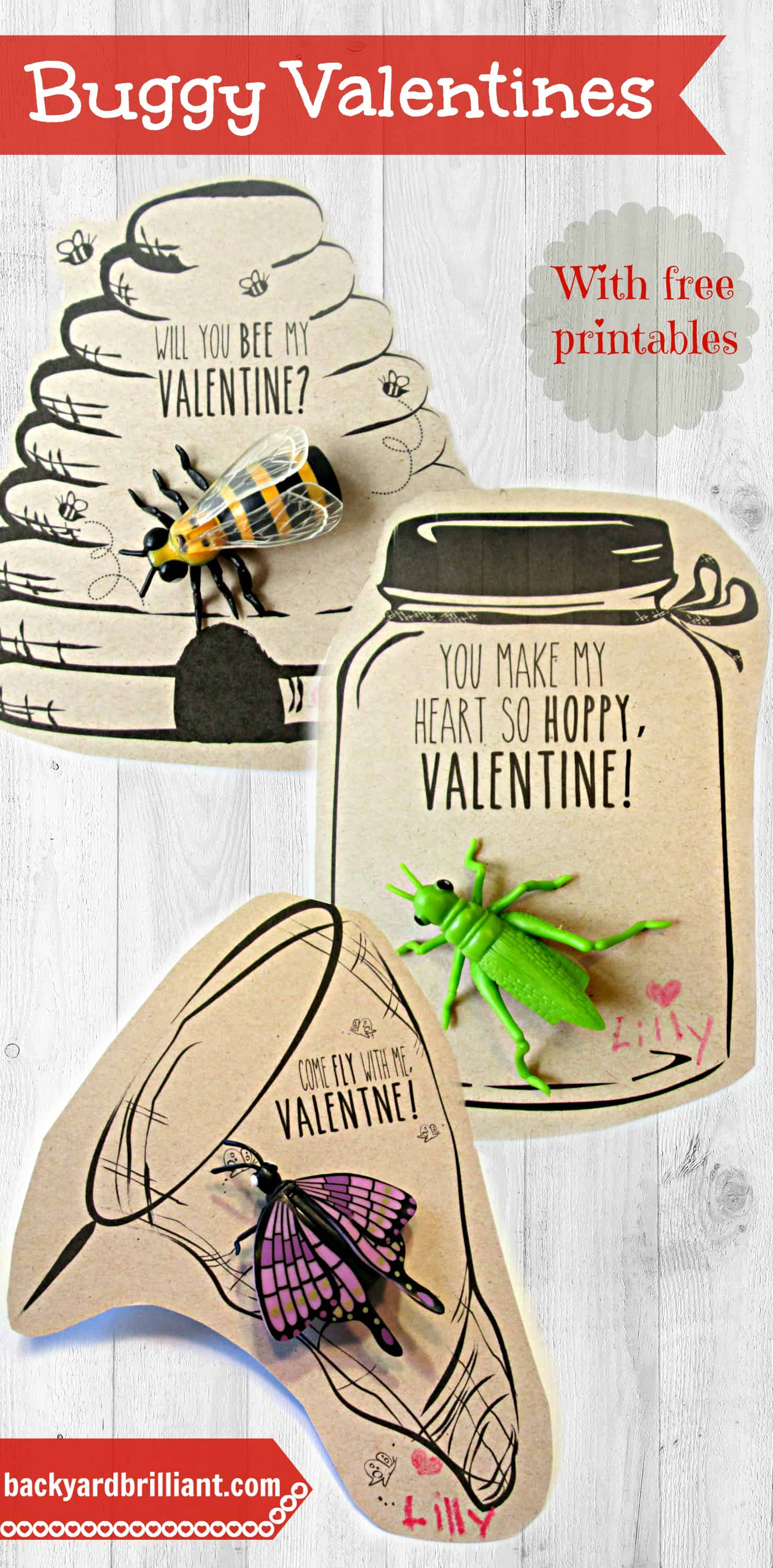 Will You Bee My Valentine D Other Handmade Buggy Valentines