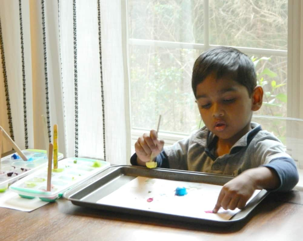 Painting with Ice Cubes Easy Cheap Fun with Your Kids