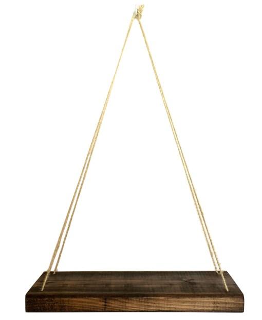 Rustic Hanging Swing Shelf