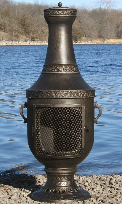 Venetian Style Chiminea Outdoor Fireplace with Gas Kit  ALCH026GK
