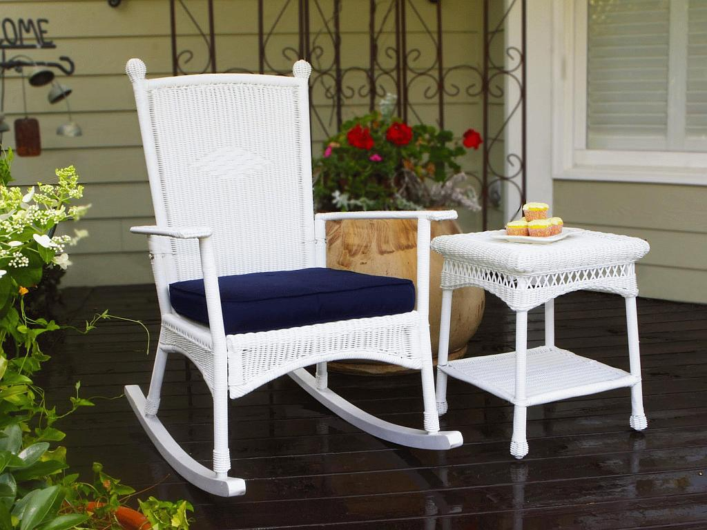 White Wicker Rocking Chair Portside Classic Rocking Chair Psr C
