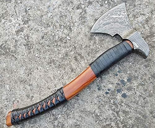Ottoza Custom Handmade Damascus Tomahawk Axe