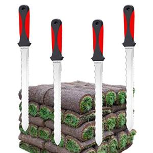 Keyfit Tools (4 Pack SOD Knife Stainless Steel Blade Sod Cutter )