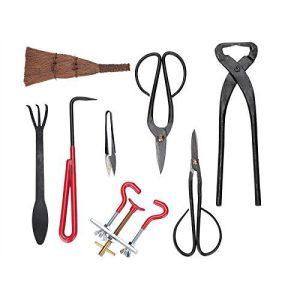 14pcs Bonsai Tool Set Kit Scissors Cutter Carbon Steel Shears 14pcs Bonsai Tool Set Kit Scissors Cutter Carbon Steel Shears Tree Branch Case.