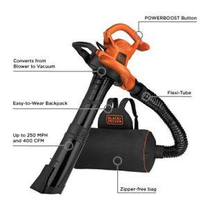 BLACK+DECKER 3-in-1 Electric Leaf Blower, Leaf Vacuum BLACK+DECKER 3-in-1 Electric Leaf Blower, Leaf Vacuum, Mulcher (BEBL7000).
