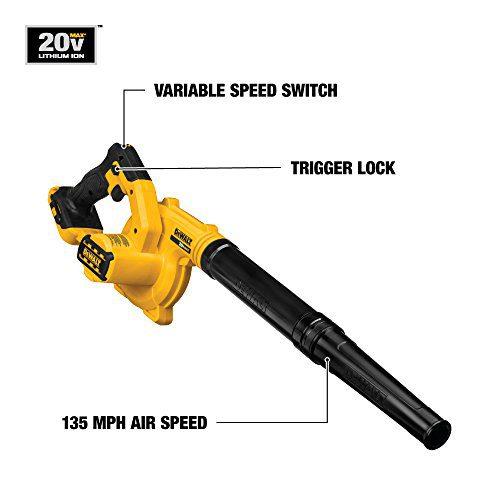 DEWALT 20V MAX Compact Jobsite Blower (Tool Only) DEWALT DCE100B 20V MAX Compact Jobsite Blower (Tool Only).