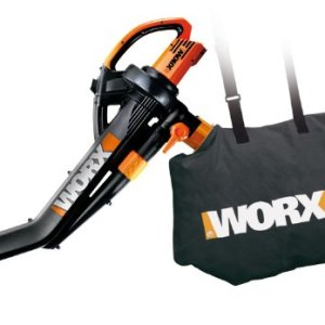 WORX TRIVAC 12 Amp 3-in-1 Electric Blower/Mulcher/Vacuum WORX WG509 TRIVAC 12 Amp 3-in-1 Electric Blower/Mulcher/Vacuum with Multi-Stage All Metal Mulching System.