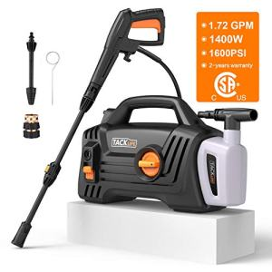 Pressure Washer, High Efficiency 1600 PSI 1.72 GPM 1400W Electric Power Washer