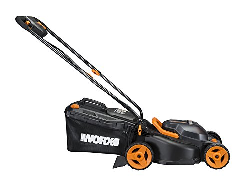 "Worx 40V (4.0AH) Cordless 14"" Lawn Mower with Mulching Capabilities Worx WG779 40V (4.0AH) Cordless 14"" Lawn Mower with Mulching Capabilities and Intellicut, Dual Charger, 2 Batteries."