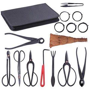 New Bonsai Tool Set Carbon Steel 10-pc Kit Cutter Scissors Shears Tree New Bonsai Tool Set Carbon Steel 10-pc Kit Cutter Scissors Shears Tree W/ Nylon Case.