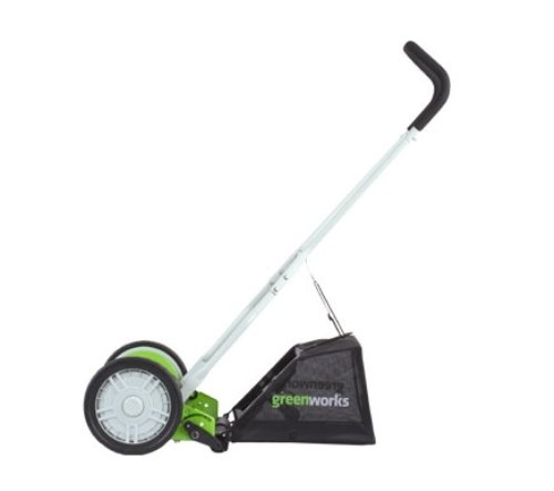 Greenworks 16-Inch Reel Lawn Mower with Grass Catcher Greenworks 16-Inch Reel Lawn Mower with Grass Catcher 25052.