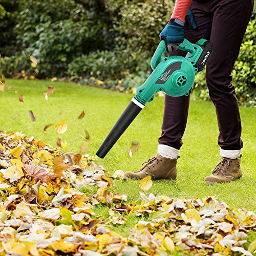 Cordless Leaf Blower - KIMO 20V Lithium 2-in-1 Sweeper/Vacuum KIMO 2-in-1 Blower / Vacuum meets all you wants.