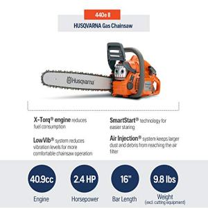 Husqvarna Rancher, 16 in. 40.9cc 2-Cycle Gas Chainsaw Husqvarna 440 Rancher, 16 in. 40.9cc 2-Cycle Gas Chainsaw.