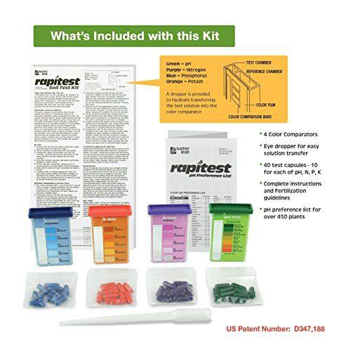 Luster Leaf Rapitest Soil KZKee Test Kit Luster Leaf 1601 Rapitest Soil KZKee Test Kit, 40 Count (2 Pack).