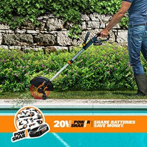 WORX 20V Cordless Grass Trimmer/Edger with Command Feed