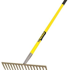 Truper Tru Pro Heavy Duty Road Rake with 16-Teeth, Fiberglass Handle