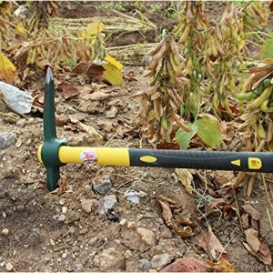 Ergonomic Solid Aim Mid Sized Hand-Held Pick Mattock Classic Digging Tool