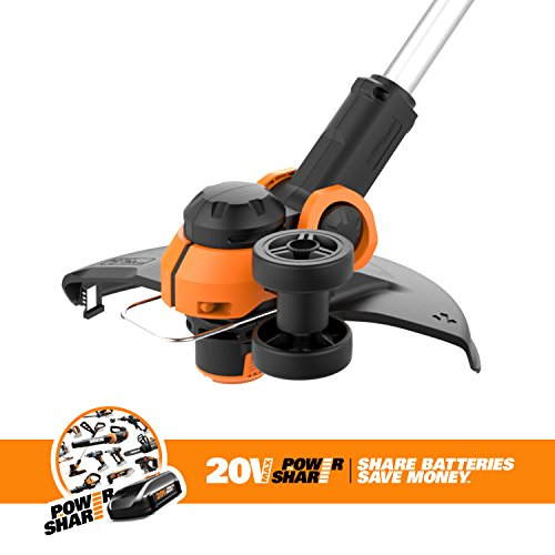 "WORX 20V Cordless Grass Trimmer/Edger with Command Feed WORX WG163.9 20V Cordless Grass Trimmer/Edger with Command Feed, 12"" TOOL ONLY, battery and charger sold separately."
