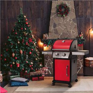 Royal Gourmet 2-Burner Cabinet Liquid Propane Gas Grill Royal Gourmet GG2102 2-Burner Cabinet Liquid Propane Gas Grill, BBQ Outdoor Cooking, Red.